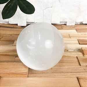 Esfera de Selenita Branca Polida 250g - Qualidade Extra