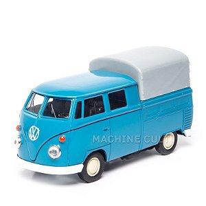 Perua Kombi Pickup Cabine Dupla Azul - 1:43