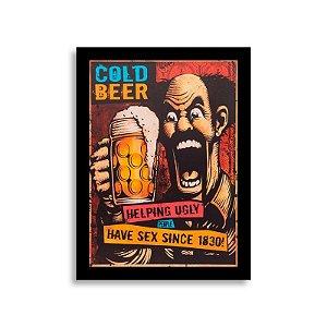Quadro Cold Beer - Cerveja