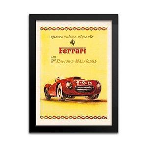 Quadro Decorativo Ferrari Vintage