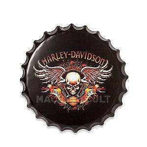 Placa Harley-Davidson M4 - Alto Relevo