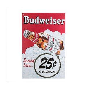 Placa Decorativa Cerveja Budweiser M1
