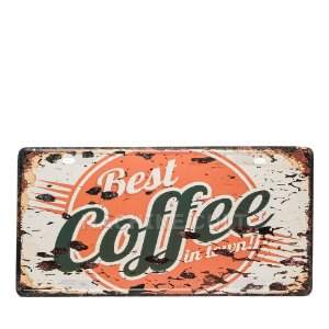 Placa Best Coffee - Alto Relevo