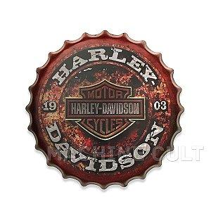 Placa Harley-Davidson M5 - Alto Relevo