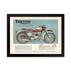 Quadro Decorativo Triumph Bonneville 120