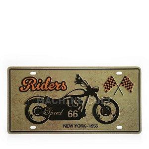 Placa Decorativa em Metal - Best Riders - alto relevo