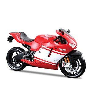 Miniatura Ducati Desmosedici RR - Branca e Vermelha - Maisto 1:12