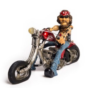 Miniatura Motoqueiro Vintage - Anos 70