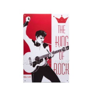 Placa Decorativa The King of Rock - Elvis Presley