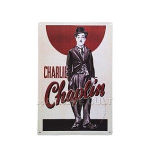 Placa Decorativa Charlie Chaplin
