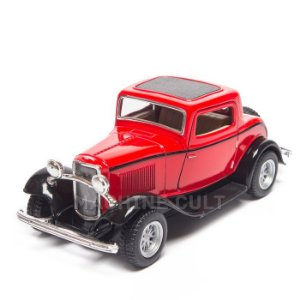 Miniatura Ford 3 Window Coupe 1932 Vermelho - 1:34