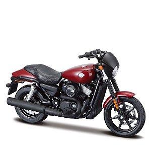 Miniatura Harley-Davidson Street 750 - Vermelha 2015 - Maisto 1:18