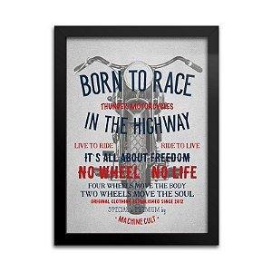 Quadro Decorativo – Born to Race