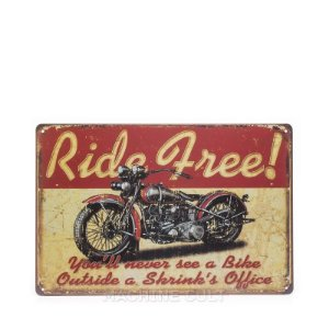 Placa Decorativa Moto Custom