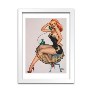 Pôster Pin-Up - Vintage