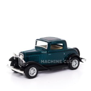 Miniatura Ford 3 Window Coupe 1932 Verde - 1:34