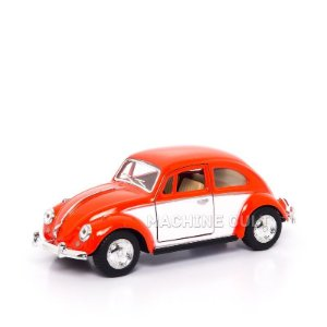 Miniatura Fusca 1967 - Saia e Blusa - Branco e Vermelho - 1:32