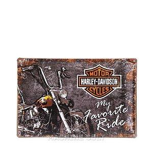 Placa Harley-Davidson em Metal