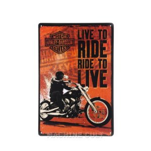 Placa Harley-Davidson Ride to Live