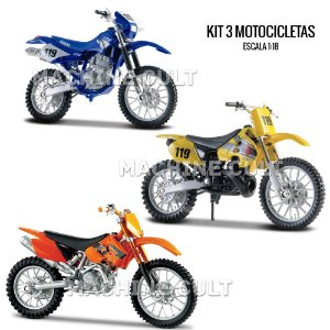 Kit de Miniaturas de Motocross Trilha - Box 8
