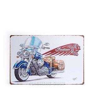 Placa em Metal Indian Motorcycle