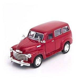 Miniatura Chevrolet Suburban 1950 Vermelho - 1:36
