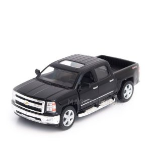 Miniatura Chevrolet Silverado 2014 Preto - 1:46