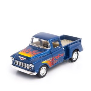 Miniatura Chevy Stepside Pickup Customizado 1955 Azul - 1:32