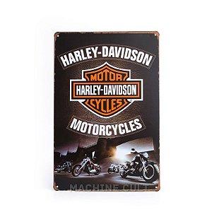 Placa Metal Harley-Davidson para Decoração