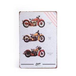 Placa em Metal Moto Indian Scout