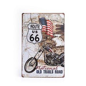 Placa Rota 66