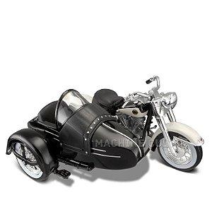 Miniatura Sidecar Harley-Davidson 1958 FLH DUO GLIDE - Maisto 1:18