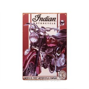 Placa Moto Indian Vintage