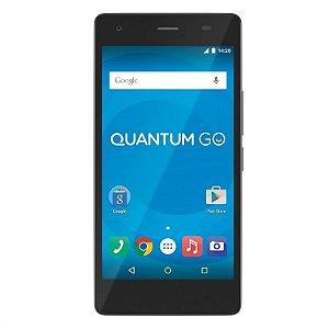 Smartphone Quantum Go Gray com Android 5.1, Dual chip, 2GB RAM - Quantum Go