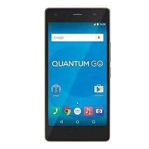 Smartphone Quantum Go Gold com Android 5.1, Dual chip, 2GB RAM - Quantum Go