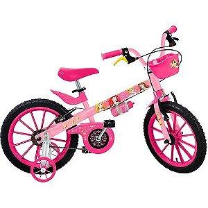 """Bicicleta 16"""" Princesas Disney -Bandeirante"""