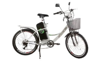 Bicicleta Elétrica TKX City Pas Bivolt Branco 350W - Track & Bikes