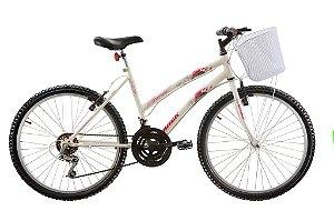 Bicicleta Parati 18 velocidade Aro 24 c/ Cesto - Track & Bikes