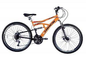 Bicicleta TB-500 Aro 26 MTB Disk Brake com Duplas Suspensão Laranja - Track & Bikes
