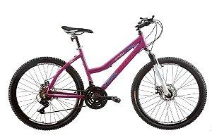 "Bicicleta TK450 Aro 26"" Alumínio Disk Brake 21 Velocidades Magenta - Track & Bikes"