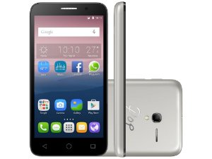"Smartphone OT-5016J POP 3  5""  Preto  C/ Capa Prata - ALCATEL"