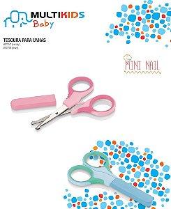 Tesoura Para Unhas Mini Nail (Menina) Rosa Multik ids Baby