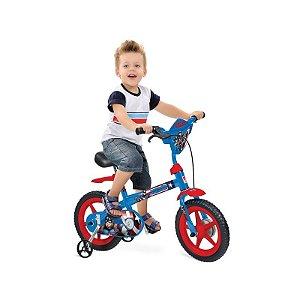 Bicicleta Aro 12 Capitão America - Bandeirante