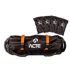 Power Bag com 4 sacos, capacidade para 5 kilos cada - vazios Acte Sportes