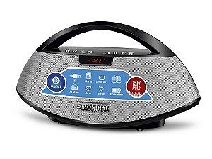 Rádio Portátil Speaker Bluetooth c/ Entrada USB e SD Card, Rádio FM - Bivolt