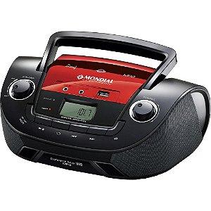 Som Portátil Mondial NBX-11 Boom Box Connect Star USB c/ FM Sintonia Digital, Pen Drive, MP3 e MP4 Player e equalização Bivolt Preto/Vermelho