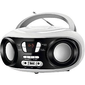 Rádio Portátil Mondial BX-14 Up White c/ FM Sintonia Digital, USB e Equalizador Bivolt Branco