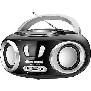 Rádio Portátil Mondial BX-13 c/ CD, FM Sintonia Digital, USB e Equalizador Bivolt Preto