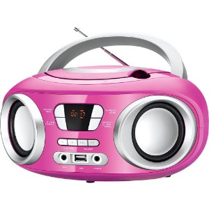 Rádio Portátil Mondial BX-15 Up c/ CD, FM Sintonia Digital, USB e Equalizador Bivolt Rosa