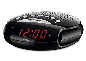 Rádio Relógio Mondial RP-03 Sleep Star III AM/FM Sintonia Digital e Despertador Bivolt Preto